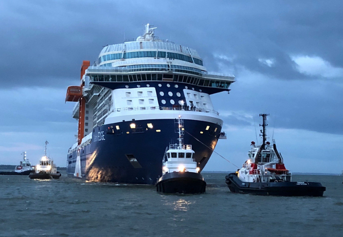 Celebrity Edge Returns To Shipyard Following First Sea
