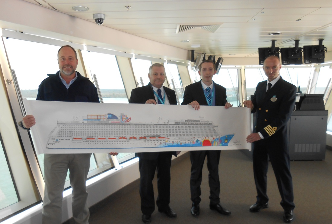 Norwegian Breakaway Ship Visit Amp Official Drawing Presentation Cruise Cotterill